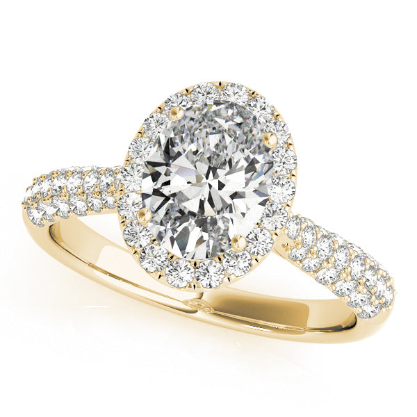 Halo Pave Engagement Ring Style LY71915 - Lyght Jewelers 10040 W Cheyenne Ave Ste 160 Las Vegas NV 89129