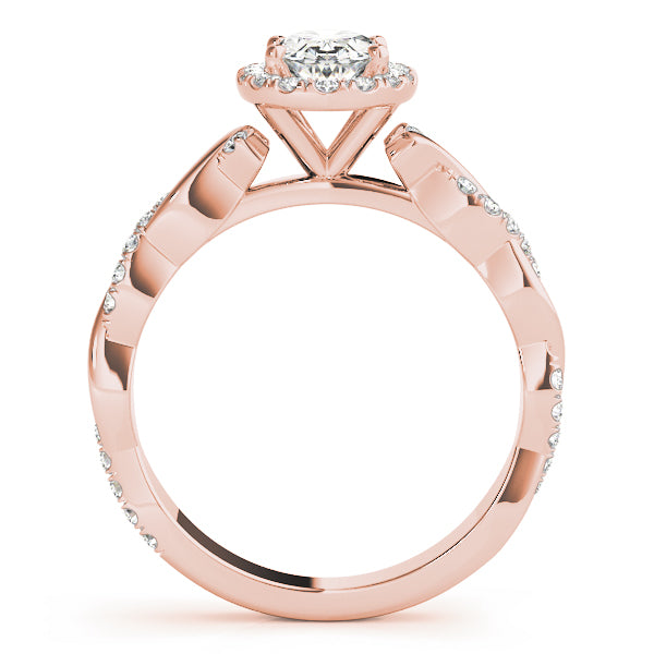 Oval Halo Engagement with Braided Ring Style LY71916
