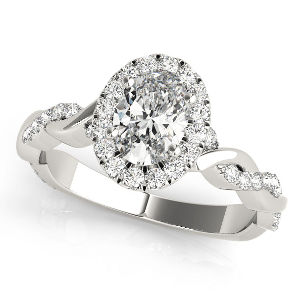 Oval Halo Engagement with Braided Ring Style LY71916 - Lyght Jewelers 10040 W Cheyenne Ave Ste 160 Las Vegas NV 89129