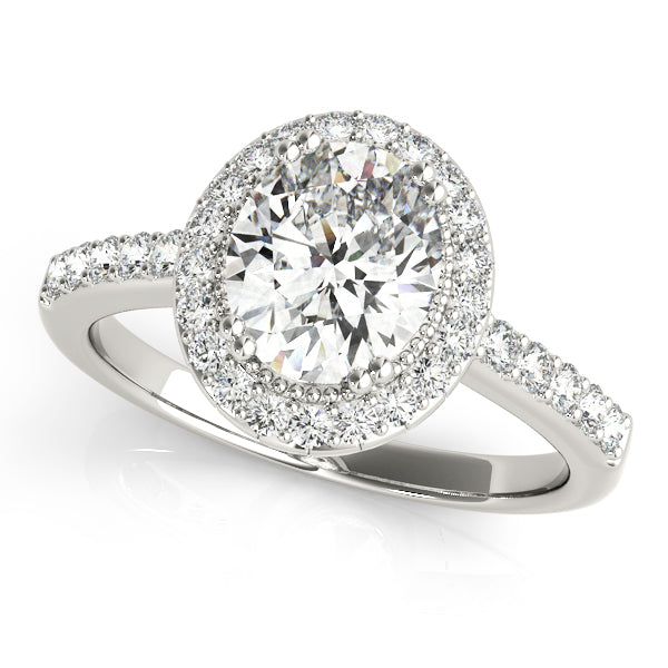 Oval Halo Engagement Classic Vintage Ring Style LY71925