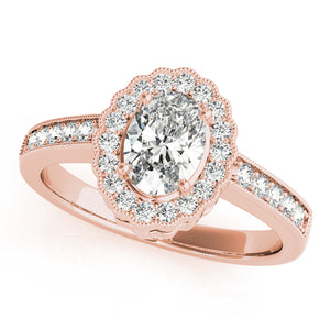 Oval Halo Engagement Floral Vintage Ring Style LY71923 - Lyght Jewelers 10040 W Cheyenne Ave Ste 160 Las Vegas NV 89129