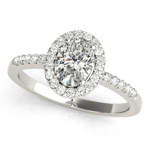 Oval Halo Engagement Ring Style LY71906