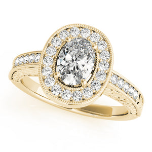 Oval Halo Engagement Vintage Ring Style LY71917 - Lyght Jewelers 10040 W Cheyenne Ave Ste 160 Las Vegas NV 89129
