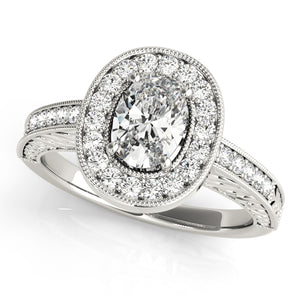 Oval Halo Engagement Vintage Ring Style LY71917