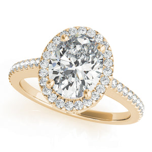 Oval Halo Engagement Filigree Vintage Ring Style LY71932