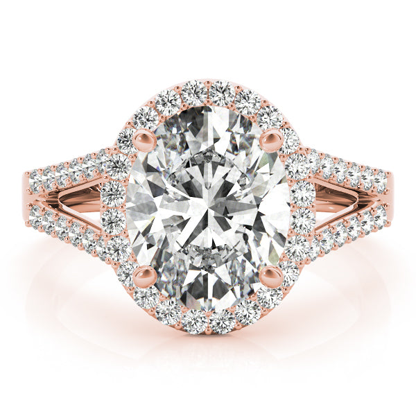 Oval Halo Engagement with Split Shank Ring Style LY71918 - Lyght Jewelers 10040 W Cheyenne Ave Ste 160 Las Vegas NV 89129