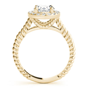 Oval Halo Engagement Ring with Single Rope Accents Style LY71911 - Lyght Jewelers 10040 W Cheyenne Ave Ste 160 Las Vegas NV 89129