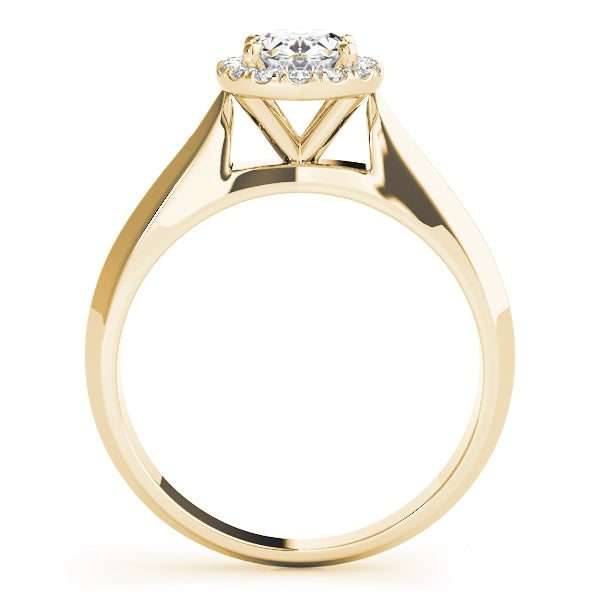 Oval Halo Engagement Modern Clean Ring Style LY71933