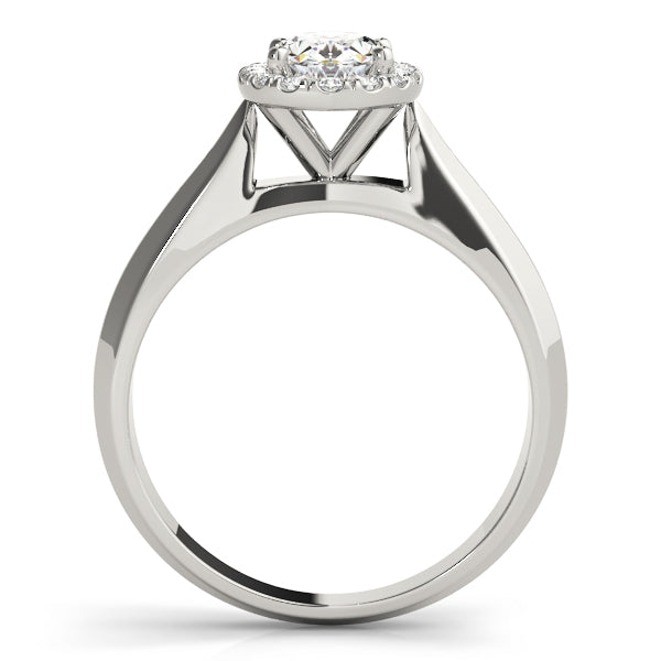 Oval Halo Engagement Modern Clean Ring Style LY71933 - Lyght Jewelers 10040 W Cheyenne Ave Ste 160 Las Vegas NV 89129