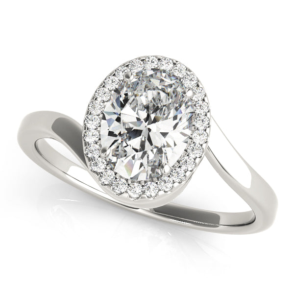 Oval Halo Engagement Bypass Vintage Ring Style LY71921 - Lyght Jewelers 10040 W Cheyenne Ave Ste 160 Las Vegas NV 89129
