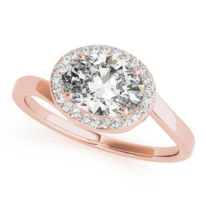Oval Halo Engagement Bypass Vintage Ring Style LY71920