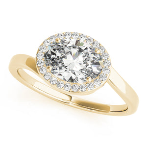 Oval Halo Engagement Bypass Vintage Ring Style LY71920 - Lyght Jewelers 10040 W Cheyenne Ave Ste 160 Las Vegas NV 89129