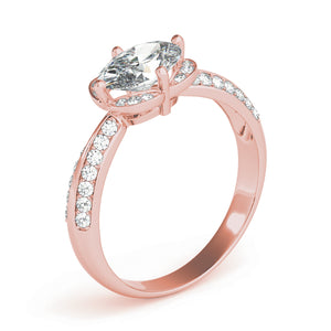 Oval Halo Engagement Classic Fancy Vintage Ring Style LY71930