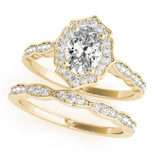 Oval Halo Engagement Fancy Vintage Ring Style LY71931 - Lyght Jewelers 10040 W Cheyenne Ave Ste 160 Las Vegas NV 89129