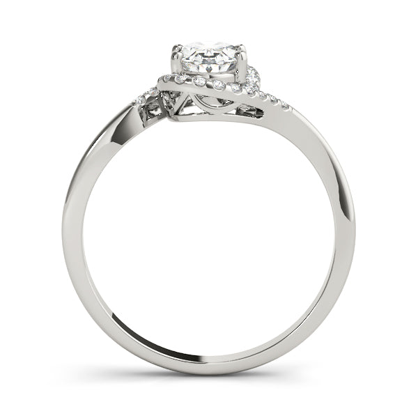 Oval Bypass Halo Engagement Ring Style LY71912