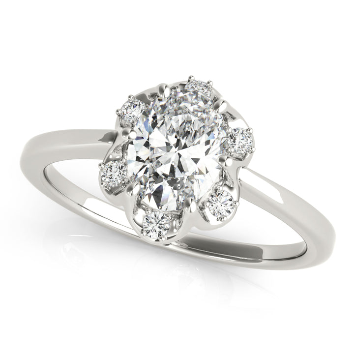 Oval Halo Engagement Floral Vintage Ring Style LY71929 - Lyght Jewelers 10040 W Cheyenne Ave Ste 160 Las Vegas NV 89129