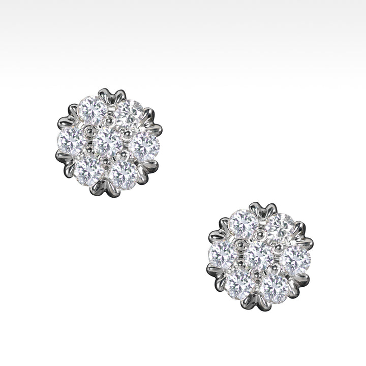 """Copious"" 1 Carat of Ideal Cut Diamond Earrings in 18K White Gold - Lyght Jewelers 10040 W Cheyenne Ave Ste 160 Las Vegas NV 89129"