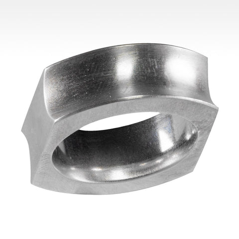 """Double"" Argentium Silver Ring - Lyght Fine Art and Jewelry 10040 W Cheyenne Ave Ste 160 Las Vegas NV 89129"