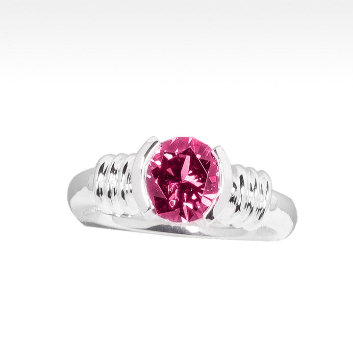 """LBD Evolved"" Rhodolite Garnet Ring in Argentium Silver - Lyght Jewelers 10040 W Cheyenne Ave Ste 160 Las Vegas NV 89129"