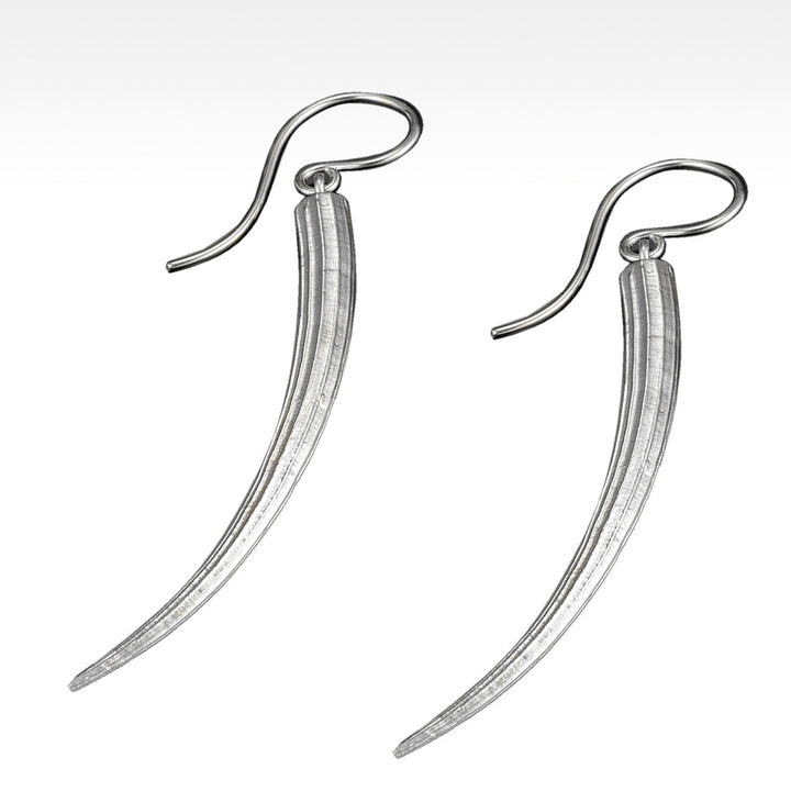 """Long Tusk"" Earrings in Argentium Silver - Lyght Jewelers 10040 W Cheyenne Ave Ste 160 Las Vegas NV 89129"