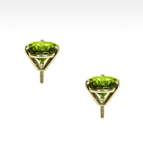 """Martini Time"" Apple Green Peridot Earrings in 18K Yellow Gold - Lyght Fine Art and Jewelry 10040 W Cheyenne Ave Ste 160 Las Vegas NV 89129"