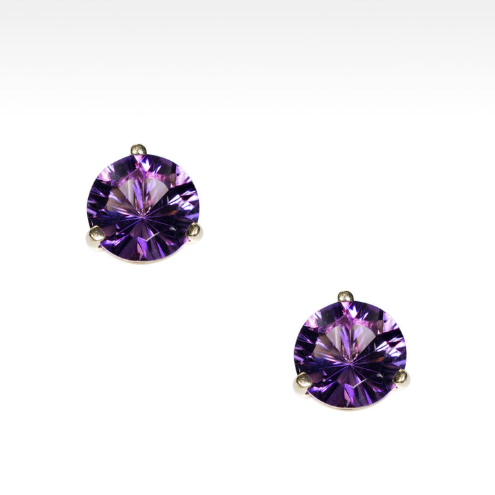 """Martini Time"" Arizona Amethyst Earrings in 18K Yellow Gold - Lyght Jewelers 10040 W Cheyenne Ave Ste 160 Las Vegas NV 89129"