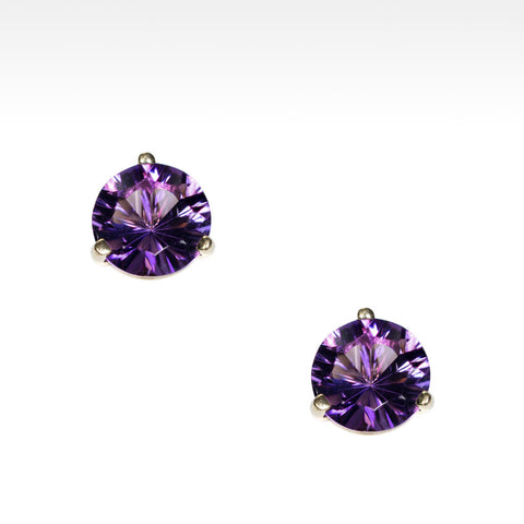 """Martini Time"" Arizona Amethyst Earrings in 18K Yellow Gold"