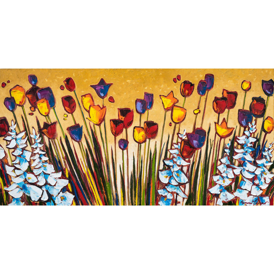 """Tulips at Sunset"" Oil on Canvas by Matt Sievers - Lyght Jewelers 10040 W Cheyenne Ave Ste 160 Las Vegas NV 89129"