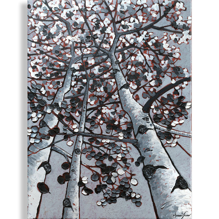 """Contrasting Leaves"" Oil on Canvas by Matt Sievers - Lyght Jewelers 10040 W Cheyenne Ave Ste 160 Las Vegas NV 89129"