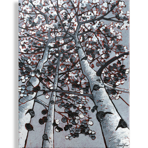 """Contrasting Leaves"" Oil on Canvas by Matt Sievers"