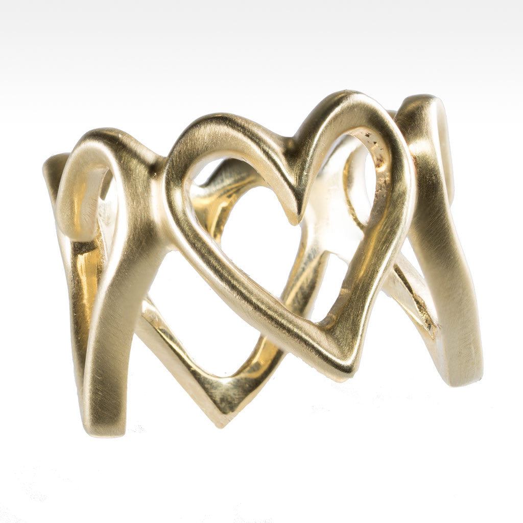 """Open Your Heart"" 14K Yellow Gold Ring - Lyght.com"
