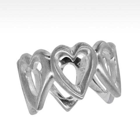 """Open Your Heart"" Ring in Argentium Silver"