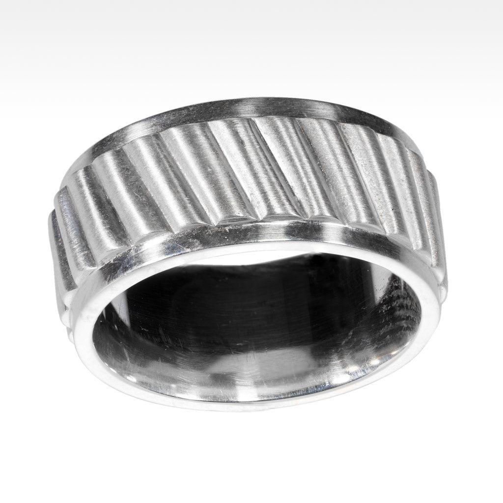 """Revolution"" Argentium Silver Men's Ring - Lyght Fine Art and Jewelry 10040 W Cheyenne Ave Ste 160 Las Vegas NV 89129"