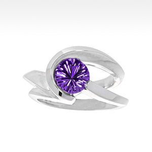 """Risqué"" Amethyst Ring in Argentium Silver - Lyght Jewelers 10040 W Cheyenne Ave Ste 160 Las Vegas NV 89129"