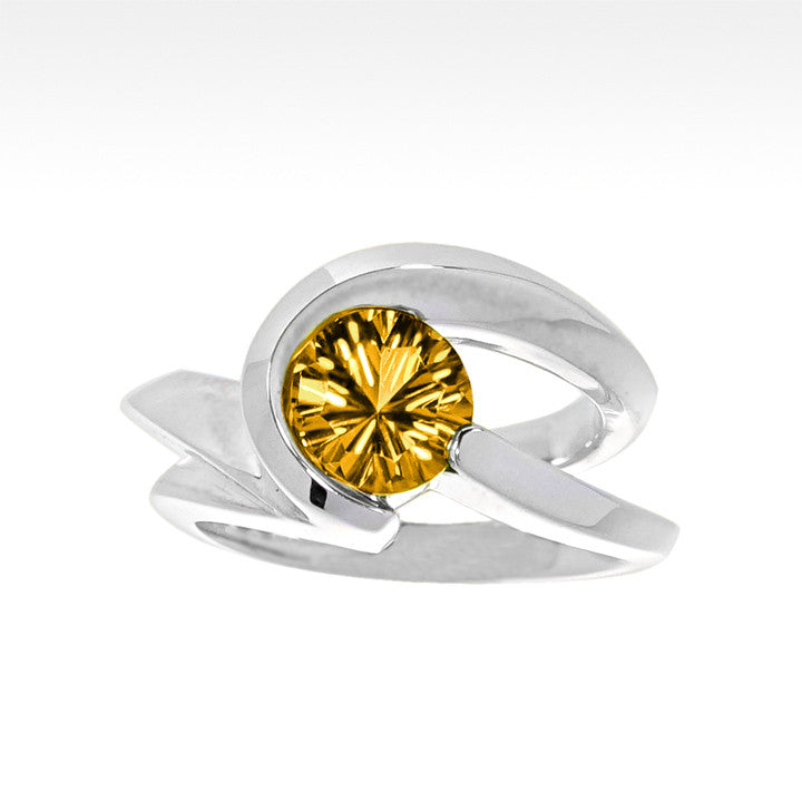 """Risqué"" Citrine Ring in Argentium Silver - Lyght Jewelers 10040 W Cheyenne Ave Ste 160 Las Vegas NV 89129"