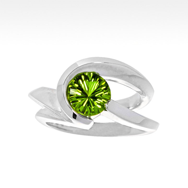 """Risqué"" Peridot Ring in Argentium Silver - Lyght Jewelers 10040 W Cheyenne Ave Ste 160 Las Vegas NV 89129"