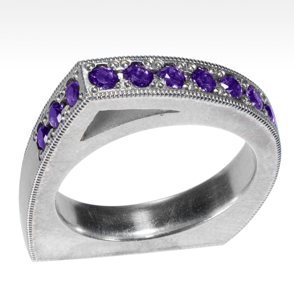 """Smart"" Stackable Gemstone Rings Set in Argentium Silver - Lyght.com"