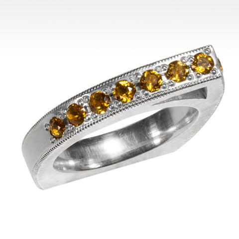 """Smart"" Stackable Gemstone Rings Set in Argentium Silver - Lyght Jewelers 10040 W Cheyenne Ave Ste 160 Las Vegas NV 89129"