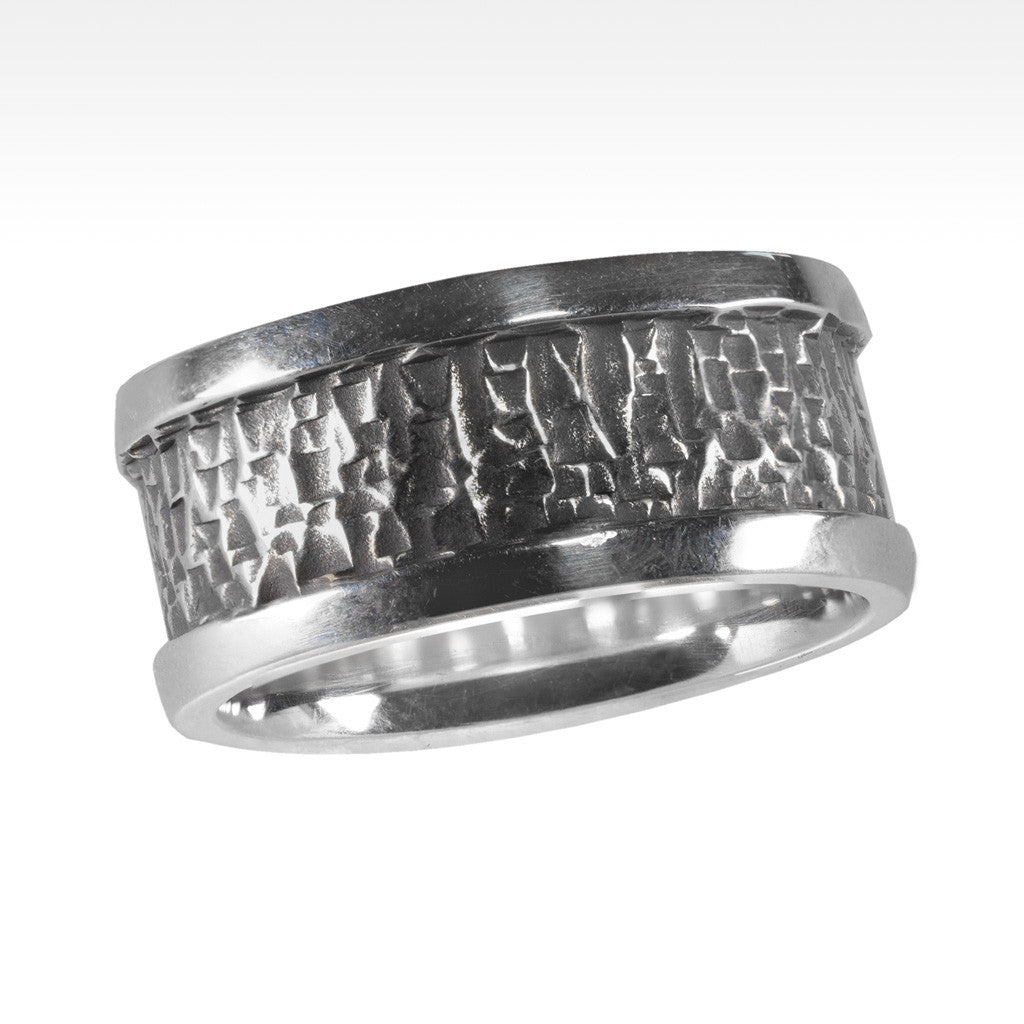"""Tough"" Argentium Silver Men's Ring - Lyght Fine Art and Jewelry 10040 W Cheyenne Ave Ste 160 Las Vegas NV 89129"