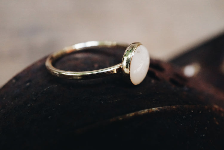 'Mother's own' milk 14k Gold filled ring
