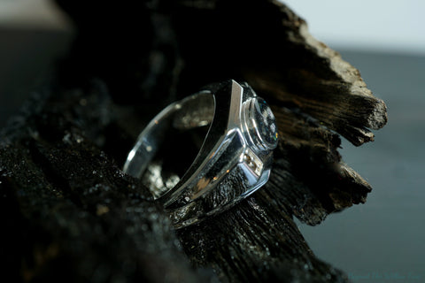 'Triton' ring in silver or gold