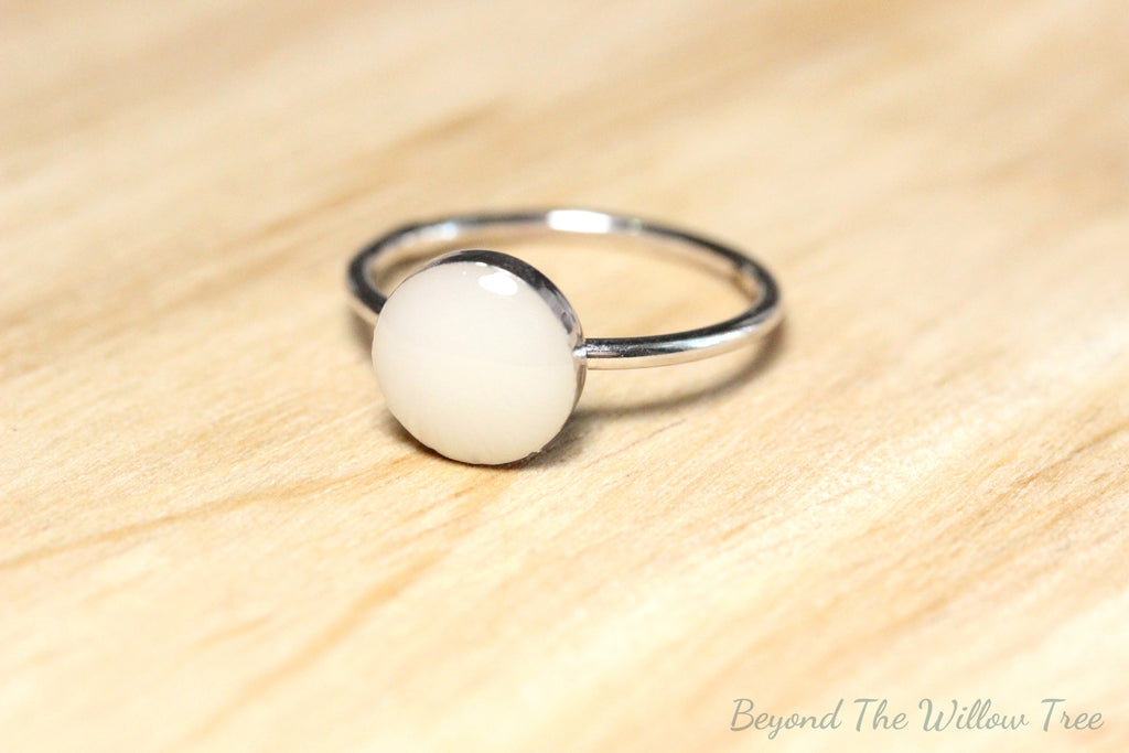 Sterling Silver Breast Milk Ring Beyond The Willow Tree