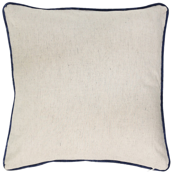 Anhad - Cushion - Cotton Linen - Block Print - Indigo - Blue
