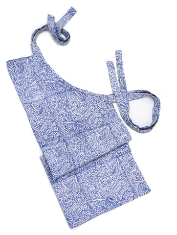 Birds of Paradise Apron - Blue