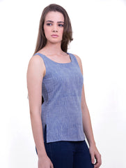 Chambray Top - Blue