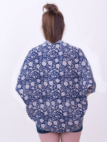 Gulfaam Reversible Cape- Blue