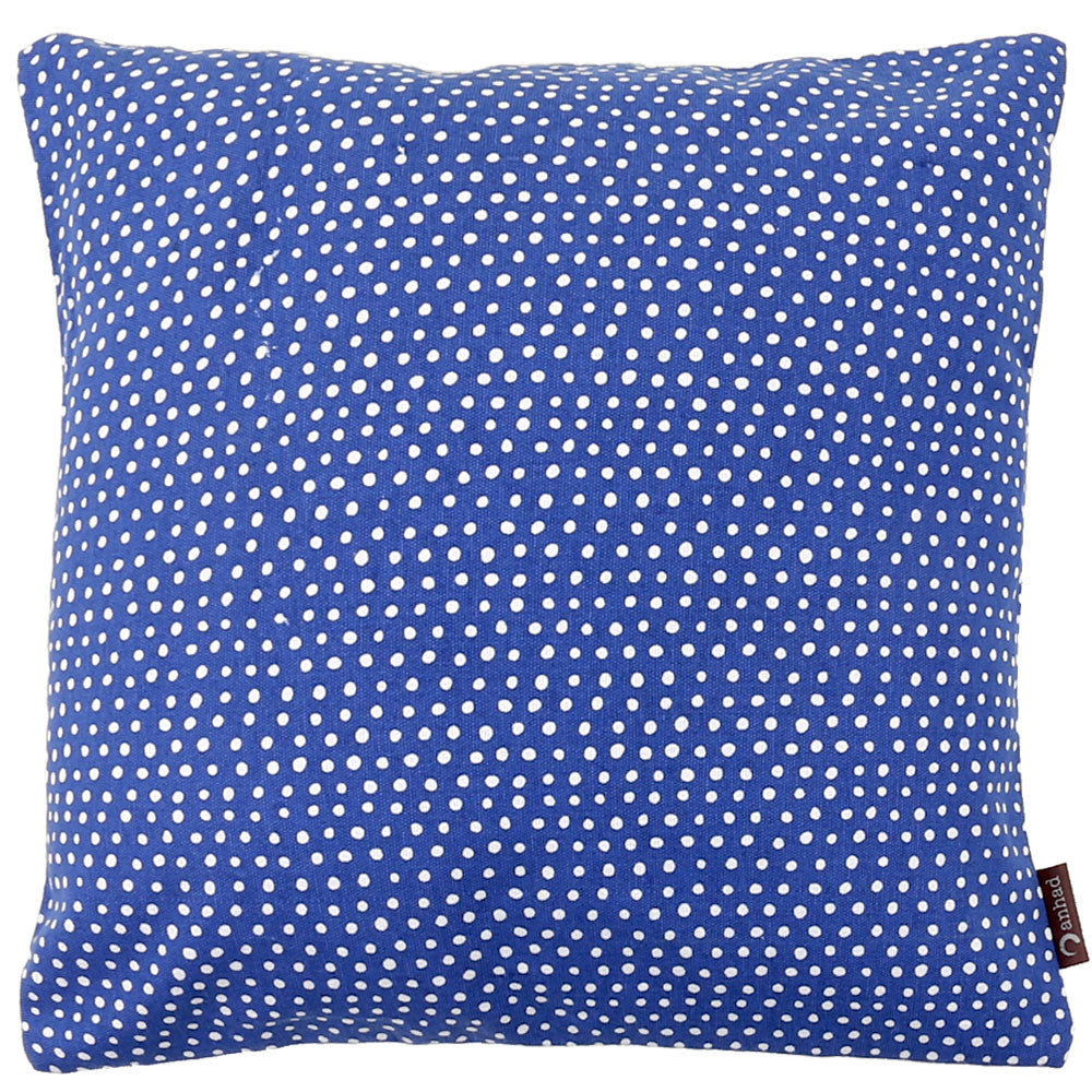 Anhad - Cushion - Cotton - Screen Print - Blue