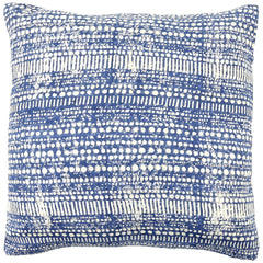 Anhad - Cushion - Khadi Silk - Block Print - Indigo - Blue