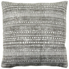 Anhad - Cushion - Khadi Cotton - Block Print - Grey