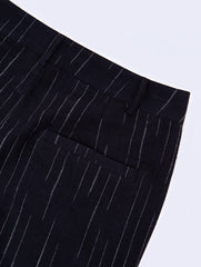 Pant - Black with broken white stripes